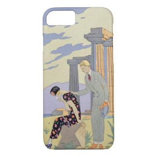 Paestum, 1924 (pochoir ) iPhone 8/7 case