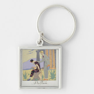 Paestum, 1924 (pochoir print) keychain