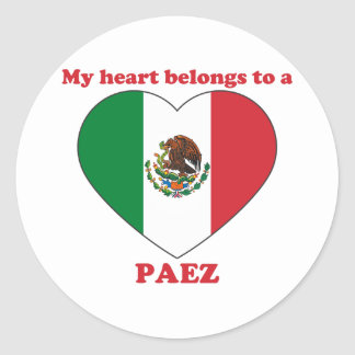 Paez Classic Round Sticker