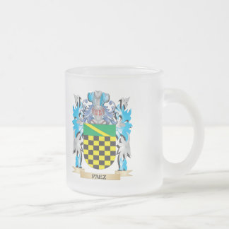 Paez Coat of Arms - Family Crest 10 Oz Frosted Glass Coffee Mug