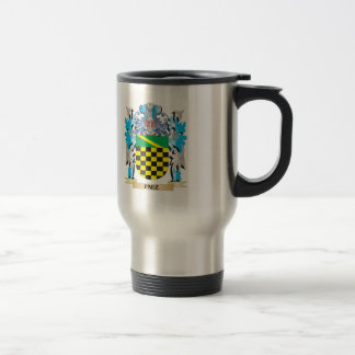 Paez Coat of Arms - Family Crest 15 Oz Stainless Steel Travel Mug
