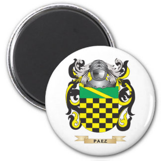 Paez Coat of Arms (Family Crest) 2 Inch Round Magnet