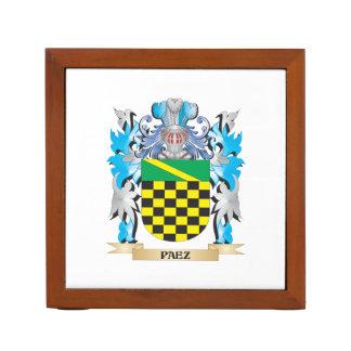 Paez Coat of Arms - Family Crest Desk Organizers