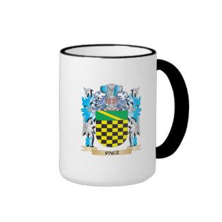 Paez Coat of Arms - Family Crest Ringer Coffee Mug