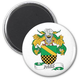 Paez Family Crest 2 Inch Round Magnet