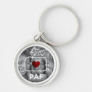 PAF round Keychain