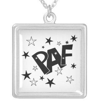 Paf Square Pendant Necklace