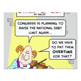 """paga del límite de deuda nacional del aumento del invitación 4.25"""" x 5.5"""""""