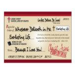 Pagado por completo ahorrado por el cristiano del postales