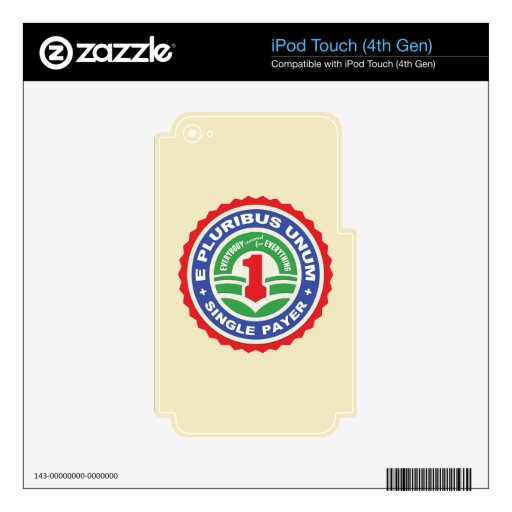 Pagador de E Pluribus Unum Calcomanías Para iPod Touch 4G