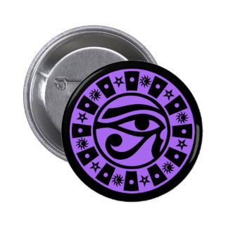Pagan Ancient Egyptian Eye of Horus Occult Symbol Button