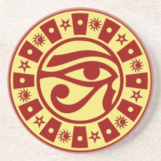 Pagan Ancient Egyptian Eye of Horus Occult Symbol Drink Coaster