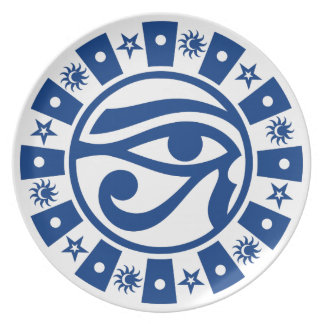 Pagan Ancient Egyptian Eye of Horus Occult Symbol Melamine Plate