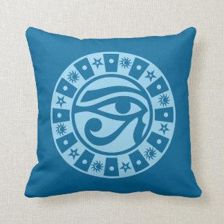 Pagan Ancient Egyptian Eye of Horus Occult Symbol Throw Pillows
