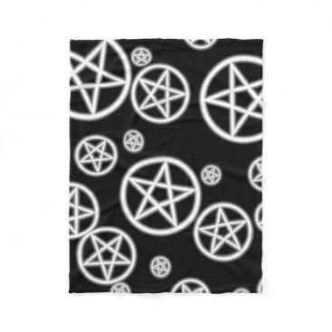 Halloween Themed Pagan Art Fleece Blanket