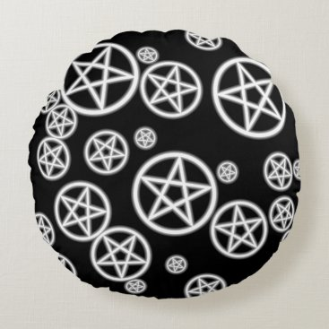 Halloween Themed Pagan Art Round Pillow