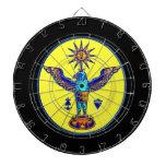 pagan azteca design.png de los símbolos del sol de tabla dardos