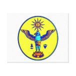 pagan azteca design.png de los símbolos del sol de impresion en lona