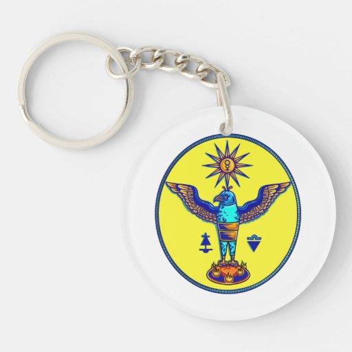pagan azteca design.png de los símbolos del sol de llavero