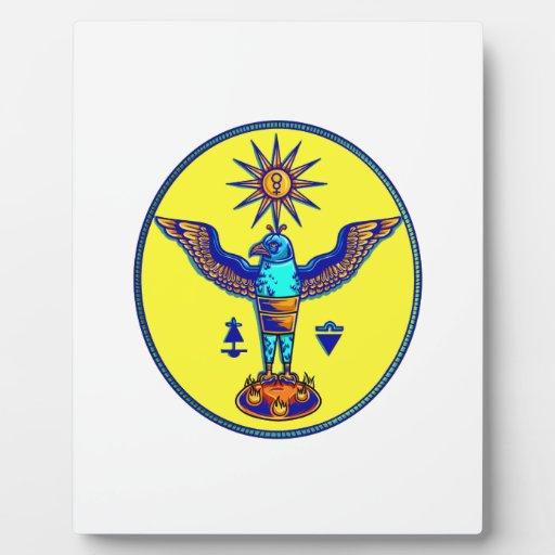 pagan azteca design.png de los símbolos del sol de placa de madera