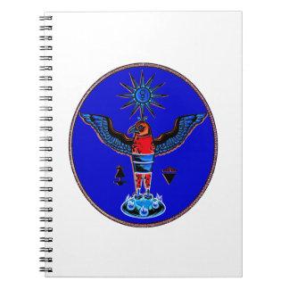 pagan azul azteca design.pn de los símbolos del so libro de apuntes con espiral