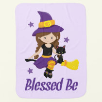 Pagan Baby Blanket Wicca Nursery Blessed Be Witch