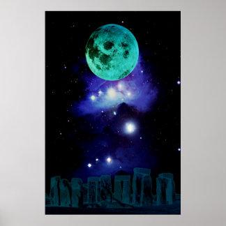 Pagan Blue Moon Poster
