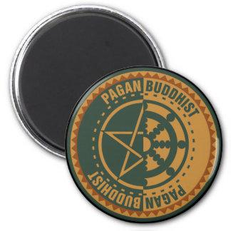 Pagan Buddhist 2 Inch Round Magnet