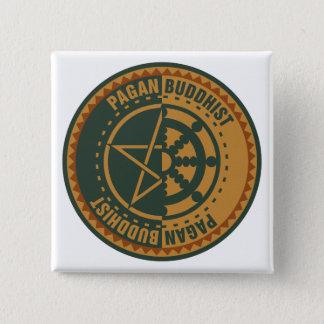 Pagan Buddhist Button