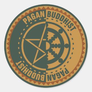 Pagan Buddhist Classic Round Sticker