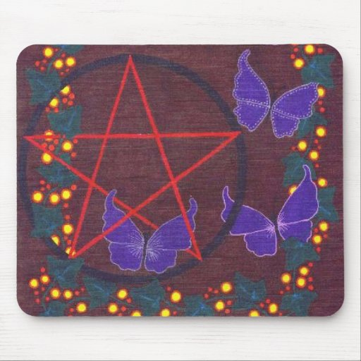 Pagan Butterflies Mousepad