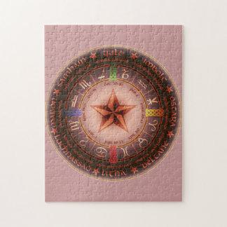 pagan calendar jigsaw puzzle