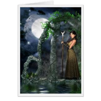 Pagan Card - Moon Goddess