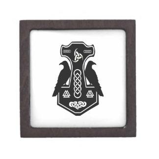 Pagan Celtic Norse Thor's Hammer Keepsake Box