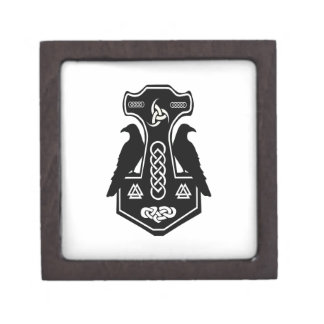 Pagan Celtic Norse Thor's Hammer Premium Trinket Box