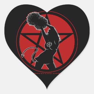 Pagan Cheerleader Heart Sticker