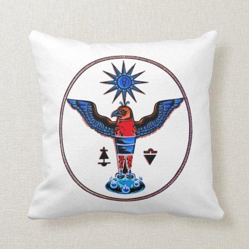 pagan claro azteca design.p de los símbolos del so cojines