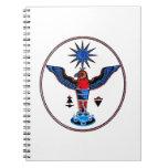 pagan claro azteca design.p de los símbolos del so libros de apuntes con espiral