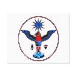 pagan claro azteca design.p de los símbolos del so impresión en lona