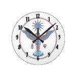 pagan claro azteca design.p de los símbolos del so relojes de pared