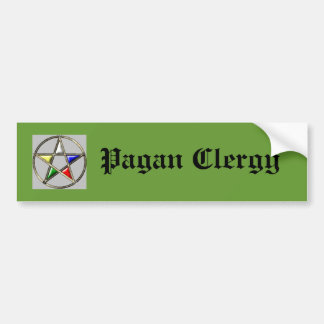 Pagan Clergy Bumper Sticker