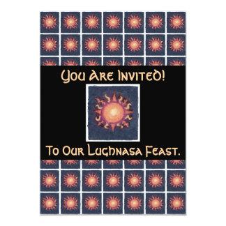 """Pagan de la cosecha de Lammas/Lughnasa Sun Invitación 5"""" X 7"""""""
