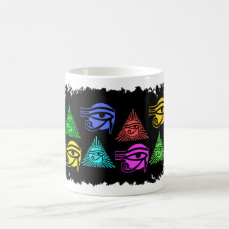 Pagan Egyptian Eye of Horus Pyramid Coffee Mug