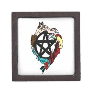 Pagan Elemental Faerie Pentacle Premium Keepsake Box