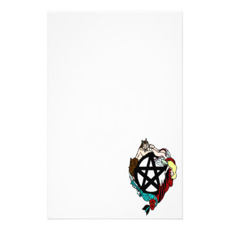 Pagan Elemental Faerie Pentacle Stationery