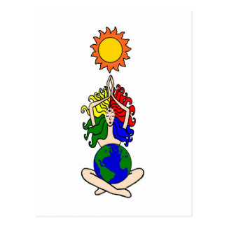 Pagan Elemental Sun Goddess Postcard