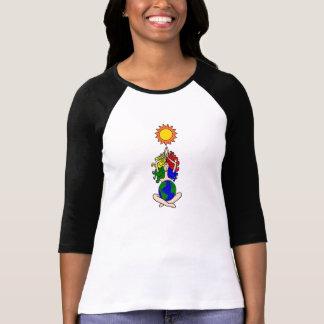 Pagan Elemental Sun Goddess with World T-Shirt