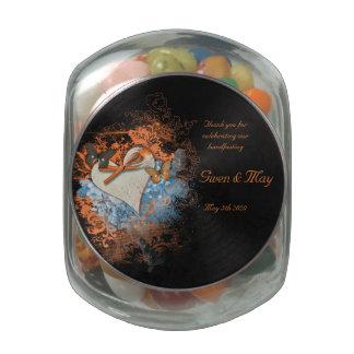 Pagan Favors Jelly Belly Jar Samhain Wedding Glass Candy Jar