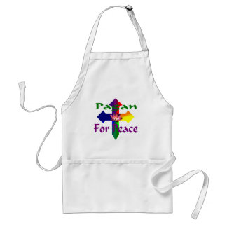Pagan For Peace Adult Apron