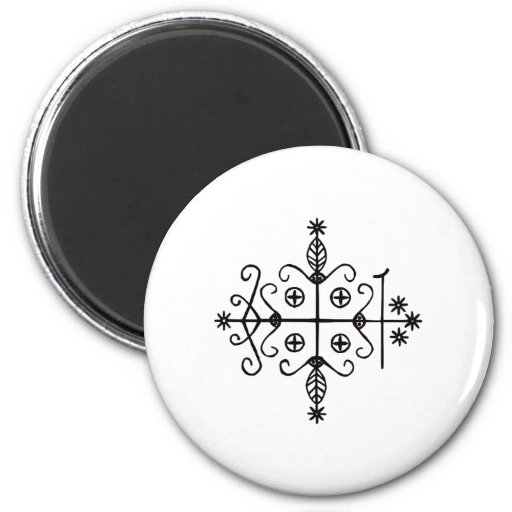 Pagan Goddess Symbols 2 Inch Round Magnet